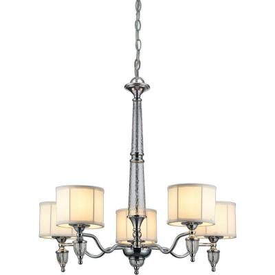 Hampton Bay Waterton Collection 5-Light Chrome Chandelier