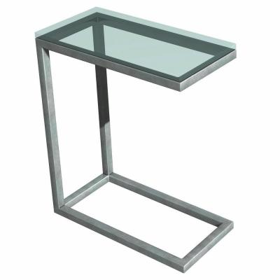 Tag Soho Silver Glass Top End Table