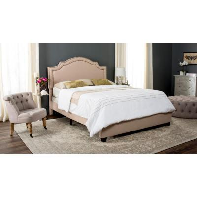 Safavieh Theron Light Beige Twin Upholstered Bed