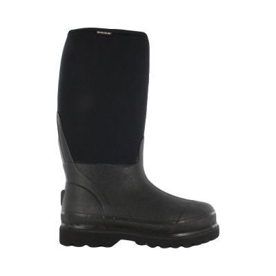 Rancher Men's Black Rubber with Neoprene Waterproof Boot