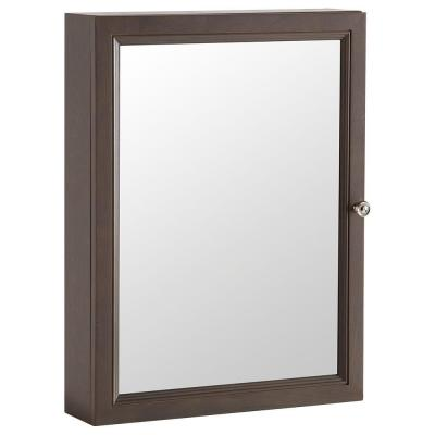 Delridge 22 in. x 29.5 in. Surface-Mount Mirrored Medicine Cabinet in Flagstone Product Photo
