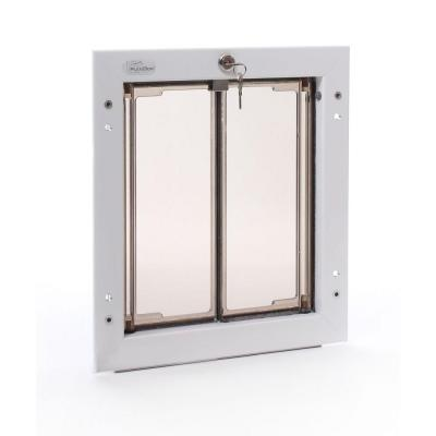 9 in. x 12 in. Wall Mount White Medium Dog Door Product Photo