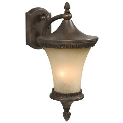 Negron 2-Light Outdoor Flemish Copper Wall Lantern
