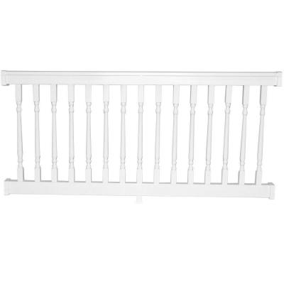 Delray 36 in. x 72 in. Vinyl White Colonial Straight Railing