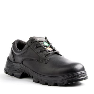 Albany Men's Black Leather Safety Shoe