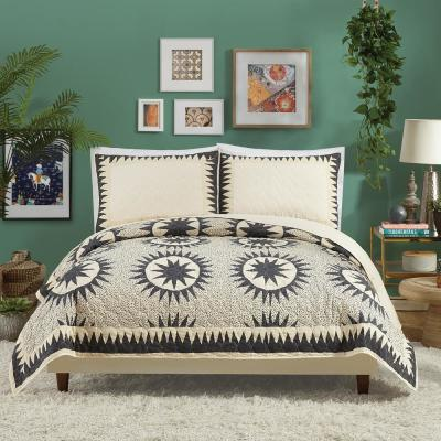 Soleil Cream Cotton Quilt Set By Justina Blakeney