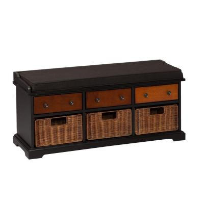 Dylan Storage Bench in Black Product Photo