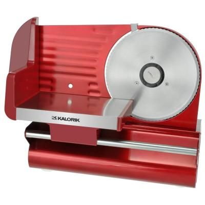 KALORIK 7-1/2 in. Meat Slicer in Red Metallic