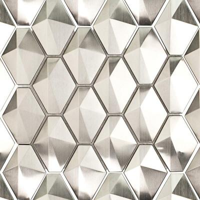 Corrie Sierra Polished Stainless Metal Tile - 3 in. x 6