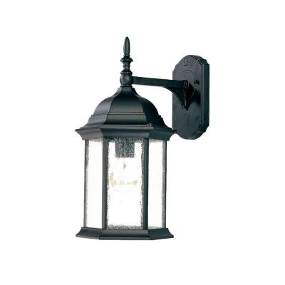 acclaim lighting craftsman collection 1 light matte black outdoor wall