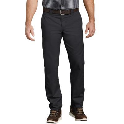 Men's Flex Slim Fit Black Taper Leg Multi-Use Pocket Work Pant