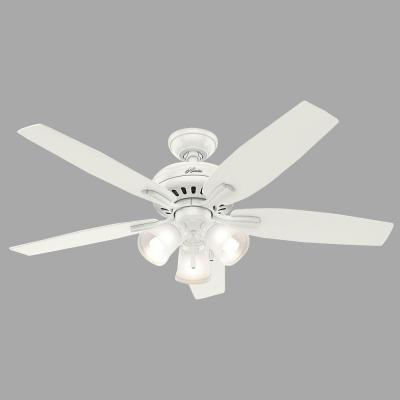 Newsome 52 in. Indoor Fresh White Ceiling Fan with Three Light