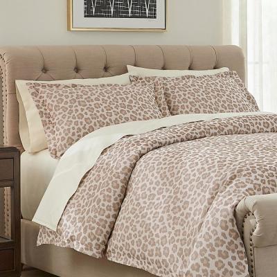 Chloe 3-Piece Leopard Jacquard Duvet Cover Set