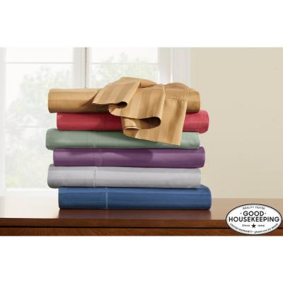 500 Thread Count Egyptian Cotton Damask Sateen Deep Pocket Sheet Set