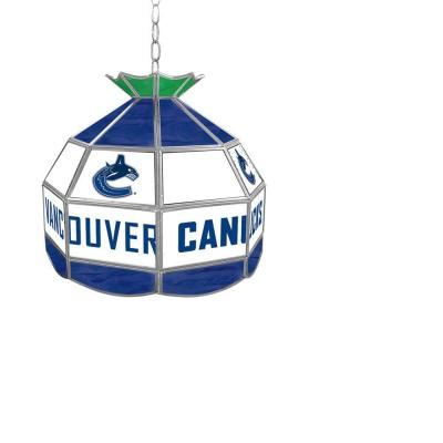 Trademark Global NHL Vancouver Canucks 16 in. Stained Glass Billiard Hanging Tiffany Light NHL1600-VC