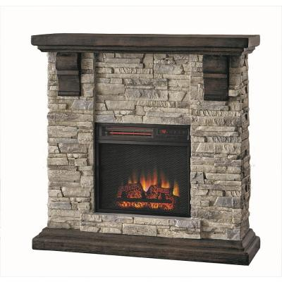Hot Price Home Decorators Collection Highland 40 In Faux Stone Mantel Electric Fireplace In