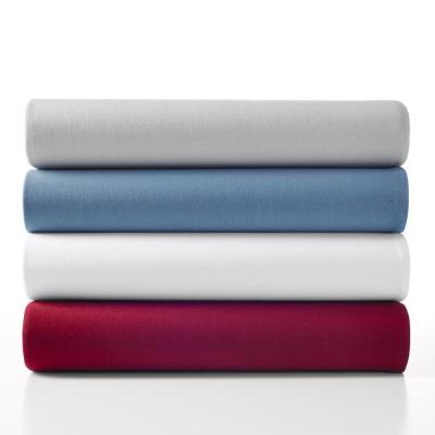 Jersey Knit Sheet Set Solid Color Cotton Blend Sheet Set