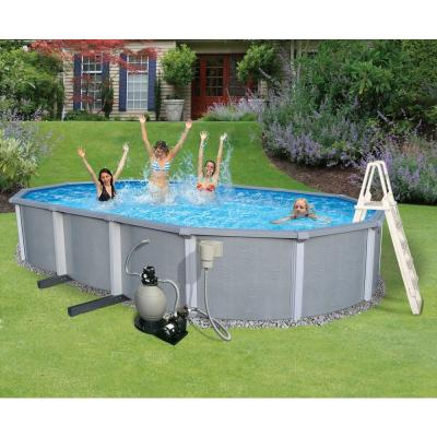 Zanzibar Oval Above Ground Pool Package 54 in. Deep