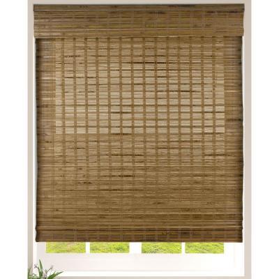 Cordless Light Filtering Woven Bamboo Shade