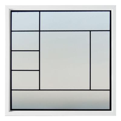 47.5 in. x 47.5 in. Metro Decorative Glass Picture Vinyl Window - White Product Photo