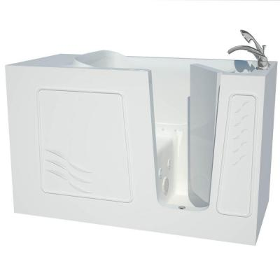 null Contractor Series 5 ft. Right Drain Whirlpool and Air Walk-In Bathtub in White