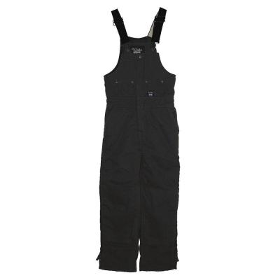 Walls Heavyweight Duck Insulated Large Short Bib Overall in Black