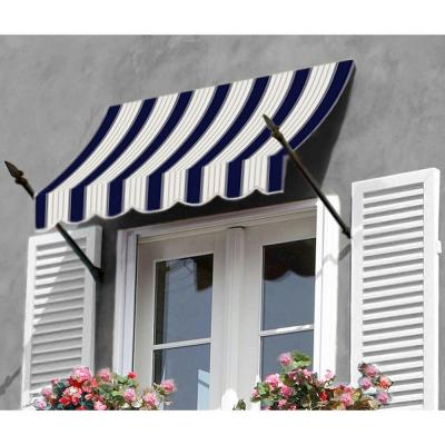 AWNTECH 10 ft. New Orleans Awning (44 in. H x 24 in. D) in Navy/Gray/White Stripe