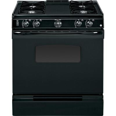 GE 30 in. Slide-In Gas Range in Black...