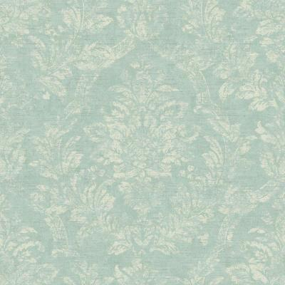 56 sq. ft. American Classics Distressed Damask Wallpaper