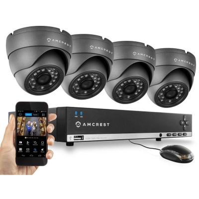 960H 4-Channel Video Security Kit - 4 x 800 TVL Dome