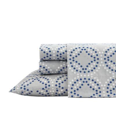 Circle Dots Geometric 200-Thread Count Cotton Blend Sheet Set