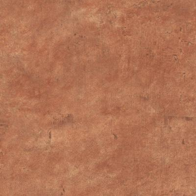 The Wallpaper Company 10 in. x 8 in. Orange Leather Like Wallpaper Sample