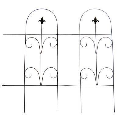 32 in. Romantic Folding Garden Fence Product Photo