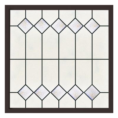 47.5 in. x 47.5 in. Mission Decorative Glass Picture Vinyl Window - White Product Photo