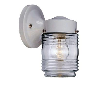 Acclaim Lighting Builder's Choice Collection Wall-Mount 1-Light Outdoor White Light Fixture