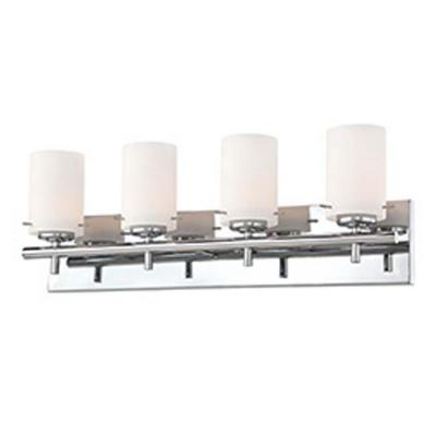 Filament Design Spectra 4-Light Chrome Bath Vanity Light with Opal White Glass