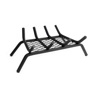 Pleasant Hearth 1/2 in. 18 in. 4-Bar Steel Fireplace Grate with Ember Retainer