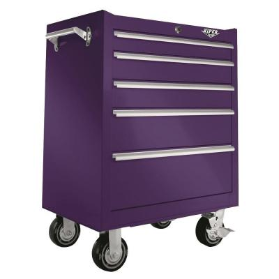 Viper Tool Storage 26 in. 5-Drawer Cabinet in Purple