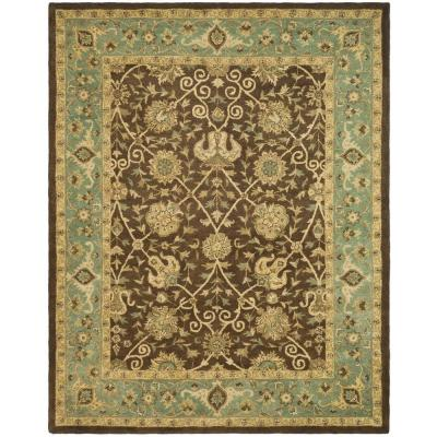 Green And Brown Area Rug Home Decor