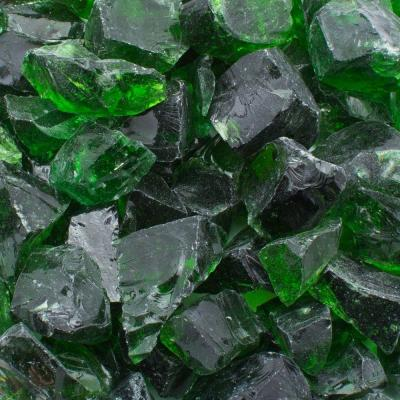 1/2 in. 25 lb. Medium Green Landscape Glass Product Photo
