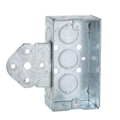 Single Gang Welded Handy Box, 1-1/2 in. Deep with 1/2 in. KO's and B Bracket (50-Pack) Product Photo