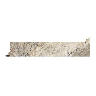 Valencia Kitchen Depth Laminate Reversible Contour End Splash Kit in Classic Crystal Granite Product Photo