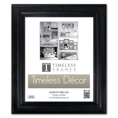 Timeless Frames Brenna 1-Opening 10 in. x 13 in. Black Picture Frame