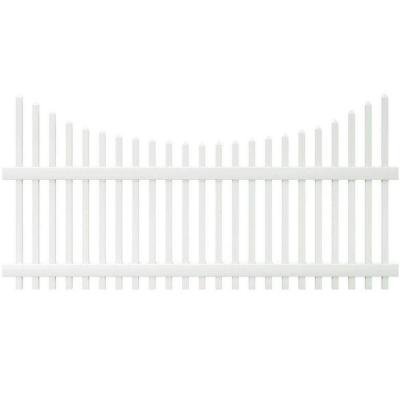 Veranda Chatham 4 ft. H x 8 ft. W Scalloped Top Spaced Picket Vinyl Fence Panel - Unassembled