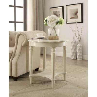 ACME Furniture Fordon End Table in Antique White