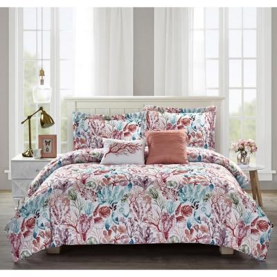 Coral Sea Pink Comforter Set