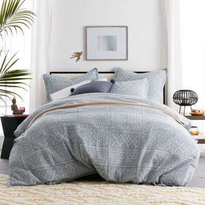 Tribal Patch Geometric Cotton Percale Duvet Cover Set