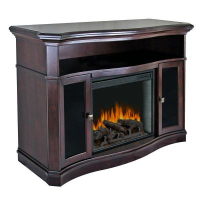 Pleasant Hearth Wheaton 54 In Media Console Electric Fireplace In Merlot Discontinued 238 79 71