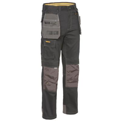 H20 Defender Men's Black/Graphite Cotton/Polyester Water Resistant Stretch Cargo Work Pant