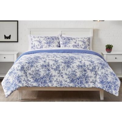 Livia 3-Piece Reversible Mariner Toile Comforter Set